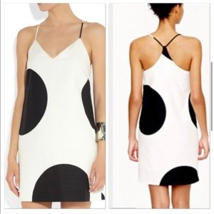 J Crew Off White Tank Dress with Large Polka Dots